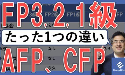 「FP3級、FP2級、FP1級」と「AFP、CFP」の決定的な違い